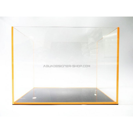 "Aquarium ""optiwhite"" 45x27x30cm FLUO orange"