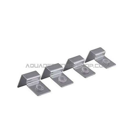Support vitre 6mm en métal avec téton silicone