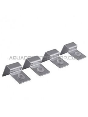 Support vitre 4mm en métal avec téton silicone