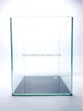 Aquarium 20x20x25 bords arrondis 10L (cuve nue)