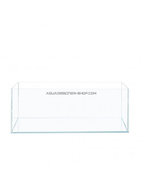 """Aquarium """"optiwhite"""" 80x40x25cm 80L 45°"""
