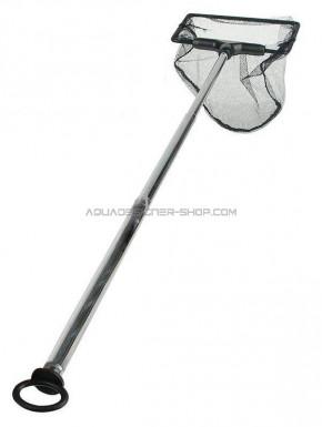 Epuisette noire télescopique 27.5 à 51cm