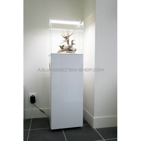 meuble aquarium design blanc brillant aquadesigner boutique aquarium. Black Bedroom Furniture Sets. Home Design Ideas