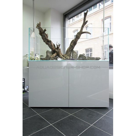 meuble aquarium design blanc brillant aquadesigner. Black Bedroom Furniture Sets. Home Design Ideas